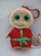 TY Beanie Boos bag clip gingerbread man Sweetsy (Christmas),
